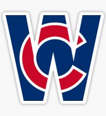 Cubs W Chicago Cubs W with Red/Blue C Sticker