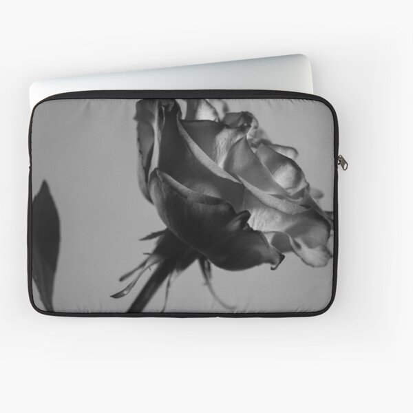 Rose black and white photography Laptop Sleeve
