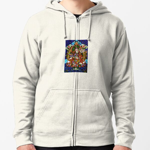 Down the Rabbit Hole One can Awaken. O' Wander ASCEND! Zipped Hoodie