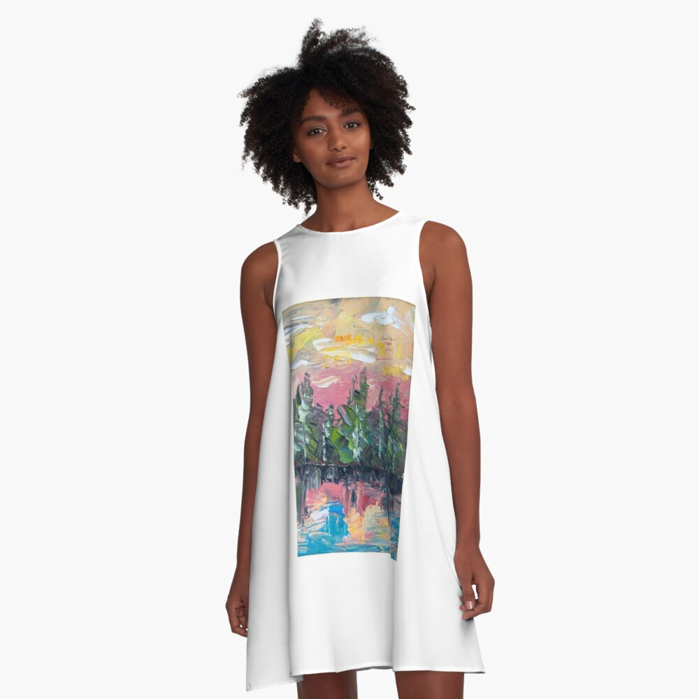 Reflection A-Line Dress Front