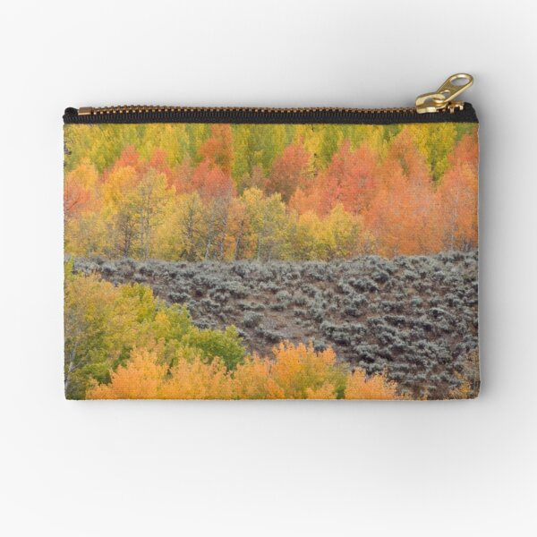Bands of Fall Color Zipper Pouch