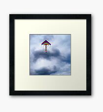 High as a kite Framed Print