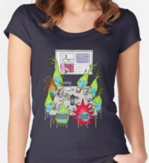 Brain Cell Lab Meeting Women's Fitted Scoop T-Shirt