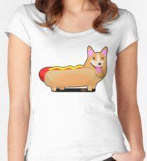 Corgi Hotdog Women's Fitted Scoop T-Shirt