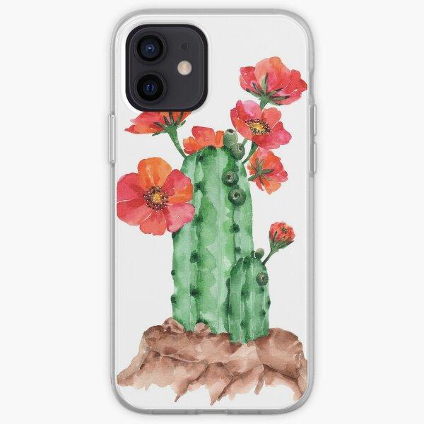 Rot blühender Kaktus iPhone Flexible Hülle