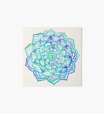Watercolor Medallion in Ocean Colors Art Board
