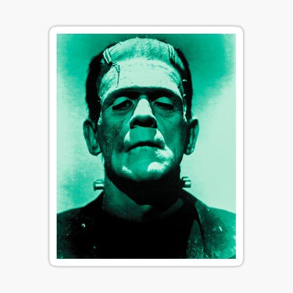 Monstruo de Frankenstein - Boris Karloff (remasterizado digitalmente) Pegatina