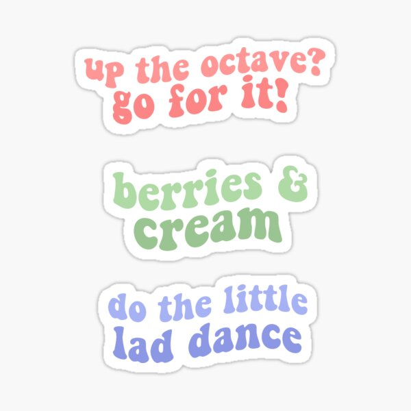 berries and cream sticker pack tiktok (do the little lad dance, berries and cream, up the octave go for it) Sticker