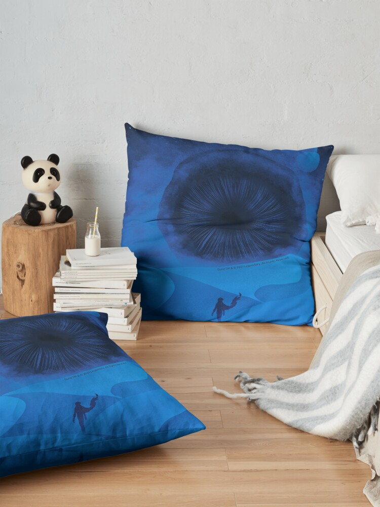 Alternate view of The Great Shai-Hulud, Blue Moons Floor Pillow