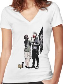 Banksy - Anarchist And Mother Women's Fitted V-Neck T-Shirt