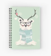 Hipster polar bear Spiral Notebook