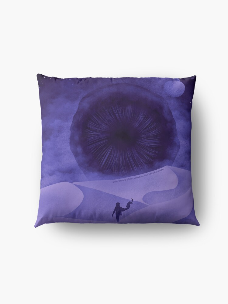 Alternate view of The Great Shai-Hulud, Purple Moons Floor Pillow