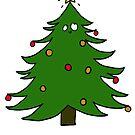 Pretty Christmas Tree by avillustrations