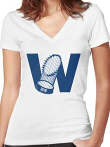 Fly The W - World Series Women's Fitted V-Neck T-Shirt