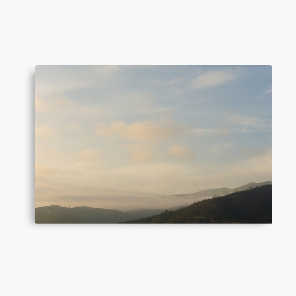 Summer evening in the Italian mountain landscape Canvas Print