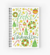 frohe Weihnachten! Spiral Notebook