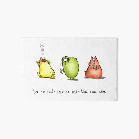 Three Wise Moggies Art Board Print