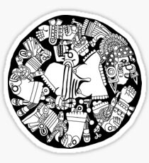Meso Ring - black & white Sticker
