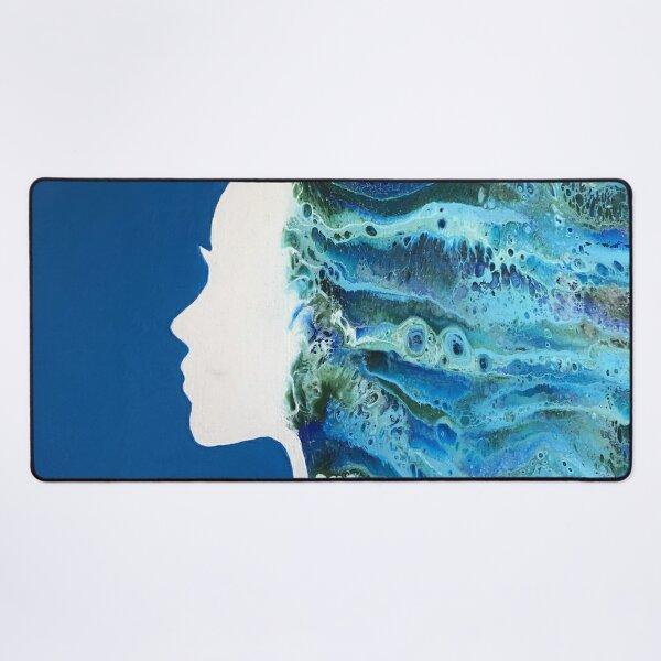 Underwater Mermaid, Flowing Hair, Under the Sea LET IT FLOW Desk Mat