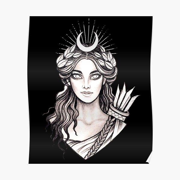 Artemis Hunt Goddess - Greek Mythology Ancient Greece Hunter Poster