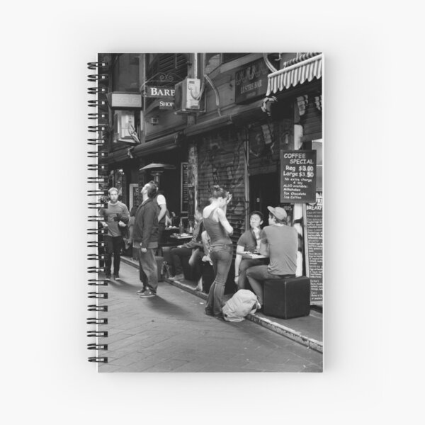 What can I get you? Coffee Laneway – Melbourne Australia Spiral Notebook