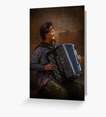The street musician Greeting Card