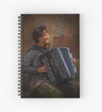 The street musician Spiral Notebook