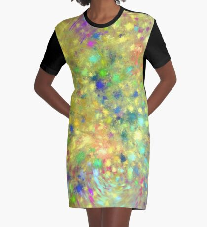 Spring #fractal art Graphic T-Shirt Dress