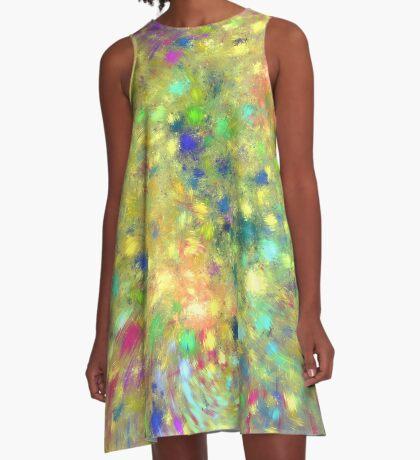Spring #fractal art A-Line Dress