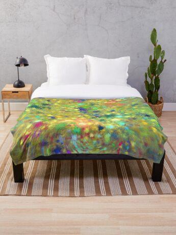 Spring #fractal art Throw Blanket