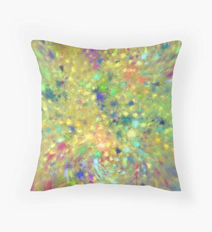 Spring #fractal art Throw Pillow