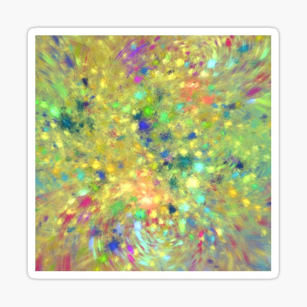 Spring #fractal art Sticker