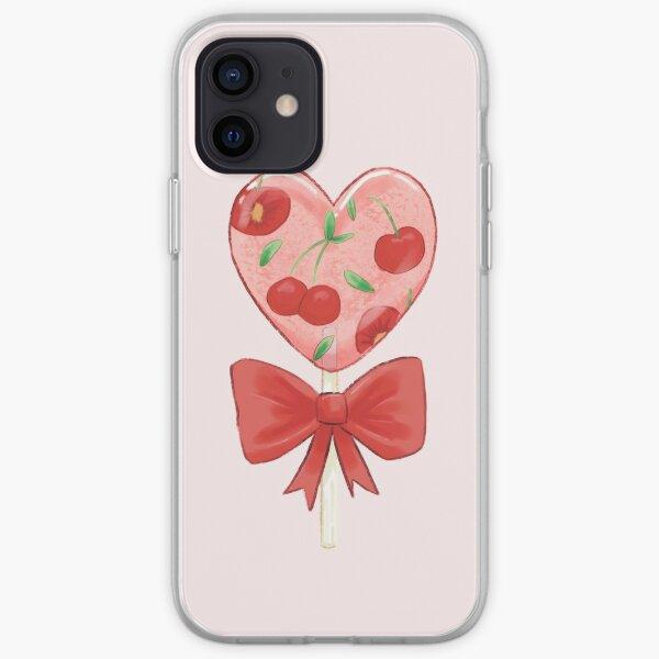 Cherry clear lollipop iPhone Soft Case