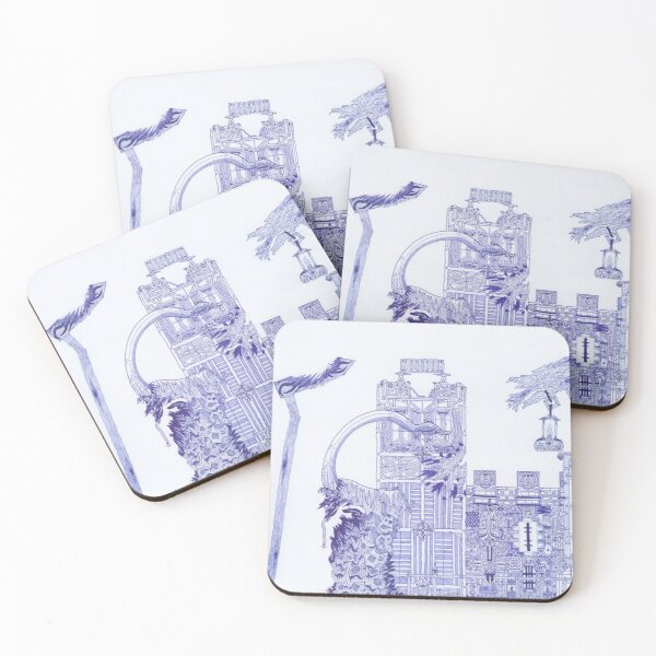 M.I. #121  ☽  Attack Aftermath Coasters (Set of 4)