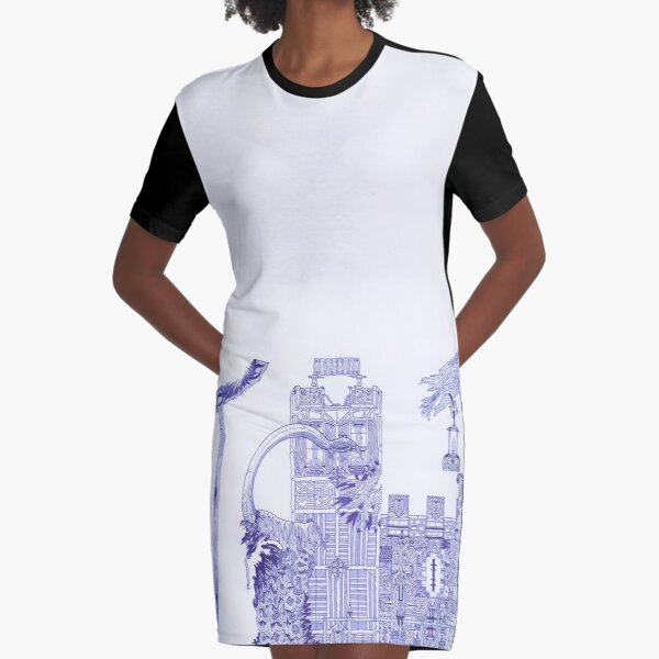 M.I. #121 |☽| Attack Aftermath Graphic T-Shirt Dress