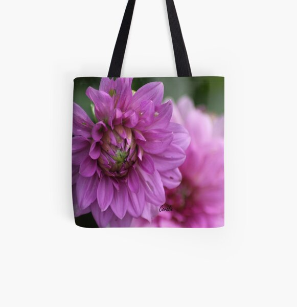 Soft Color of the Dahlia Flowers All Over Print Tote Bag