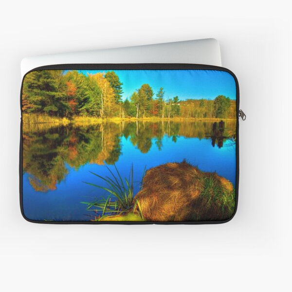 Looking Across The Pond Laptop Sleeve