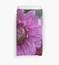 Soft Color of the Dahlia Flowers Duvet Cover