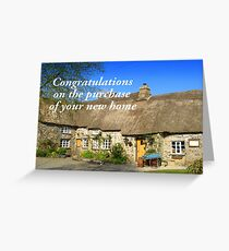 Congratulations on the Purchase of your new Home Greeting Card