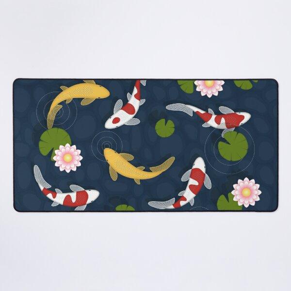 Japanese Koi Fish Pond Desk Mat