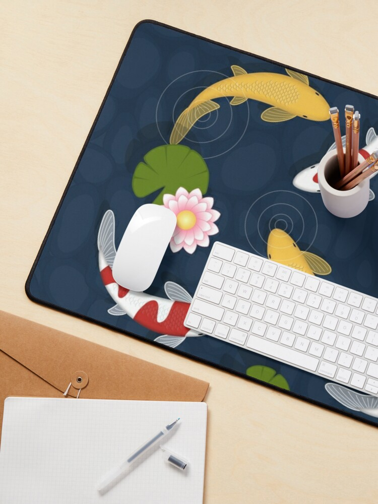 Alternate view of Japanese Koi Fish Pond Mouse Pad