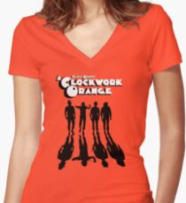 A Clockwork Orange Shadows Women's Fitted V-Neck T-Shirt