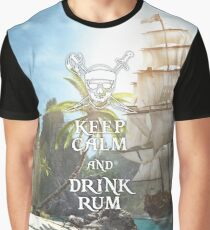 Keep Calm and Drink Rum Graphic T-Shirt