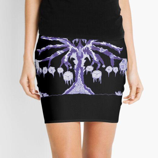M.I. #123  ☽  Frozen Forest Fragment Mini Skirt