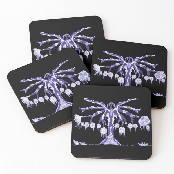M.I. #123  ☽  Frozen Forest Fragment Coasters (Set of 4)
