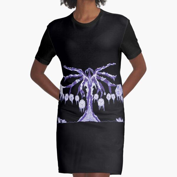 M.I. #123 |☽| Frozen Forest Fragment Graphic T-Shirt Dress
