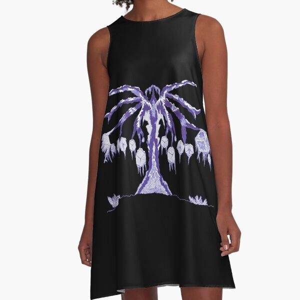 M.I. #123  ☽  Frozen Forest Fragment A-Line Dress