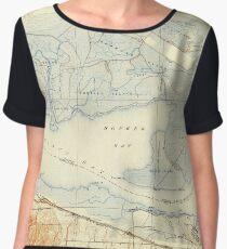 USGS TOPO Map California CA Honker Bay 296168 1918 31680 geo Women's Chiffon Top