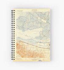 USGS TOPO Map California CA Honker Bay 296168 1918 31680 geo Spiral Notebook