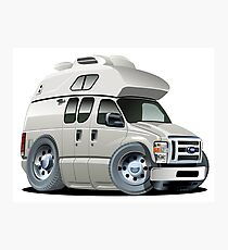 Cartoon Camper Photographic Print